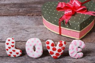 Коробка конфет в виде сердца